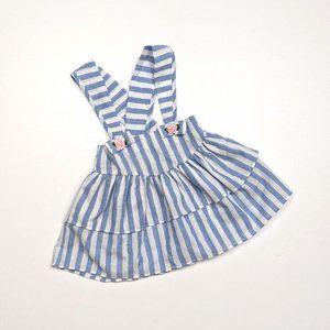 Vintage Blue Stripe Skirt Sz 2T